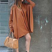 Одежда handmade. Livemaster - original item dresses: Elegant tunic with a zipper at the back. Knee-length Dress - TU0558PM. Handmade.