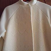 Одежда handmade. Livemaster - original item coat milky white with lace size 52. Handmade.