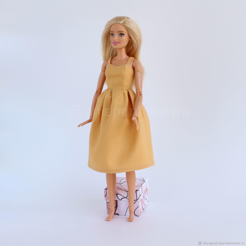 Одежда для Барби. Сарафан горчичный, Одежда для кукол, Орел,  Фото №1