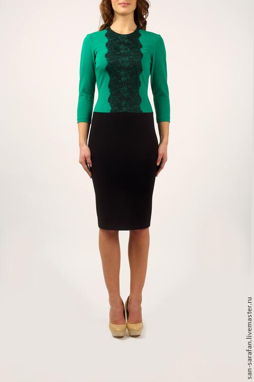 Платья ручной работы. Ярмарка Мастеров - ручная работа. Купить Платье. Handmade. Зеленый, зеленое платье, модное платье