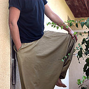Одежда ручной работы. Ярмарка Мастеров - ручная работа Афгани для мужчин и женщин с карманами горчичные. Handmade.