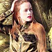 """Одежда ручной работы. Ярмарка Мастеров - ручная работа Шелковая блуза. Коллекция """"Amalthea"""".. Handmade."""
