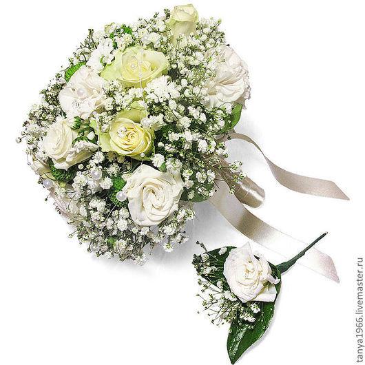 Свадебные цветы ручной работы. Ярмарка Мастеров - ручная работа. Купить Пастила. Handmade. Белый, букет невесты, невеста, хризантема