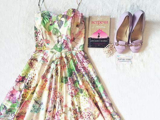 """Платья ручной работы. Ярмарка Мастеров - ручная работа. Купить Платье """"Виола"""". Handmade. Нарядное платье, цветочное платье, на корсете"""