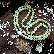 Фен-шуй и эзотерика handmade. Livemaster - original item Buddhist prayer beads from onyx and kakholong, 108 grains, Mahakala knot. Handmade.