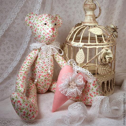 Куклы Тильды ручной работы. Ярмарка Мастеров - ручная работа. Купить Тильда Мишка романтичная. Handmade. Мишка, романтика