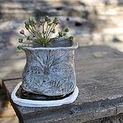 Цветы и флористика ручной работы. Ярмарка Мастеров - ручная работа Маленькое керамическое кашпо. Handmade.