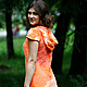 """Платья ручной работы. Ярмарка Мастеров - ручная работа. Купить Авторское платье """"Coral reefs"""".. Handmade. Оранжевый, ирина федотова"""