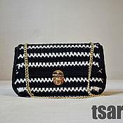 Сумки и аксессуары handmade. Livemaster - original item Black and white handmade clutch bag in Chanel style. Handmade.