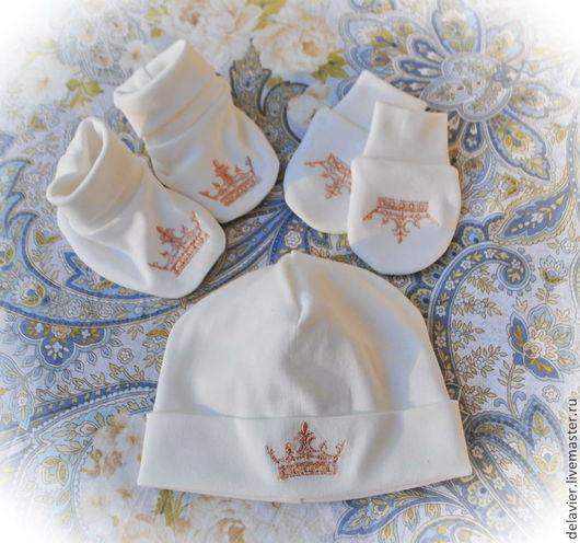 Комплект для малыша, детская шапочка, пинетки, детская обувь, царапки