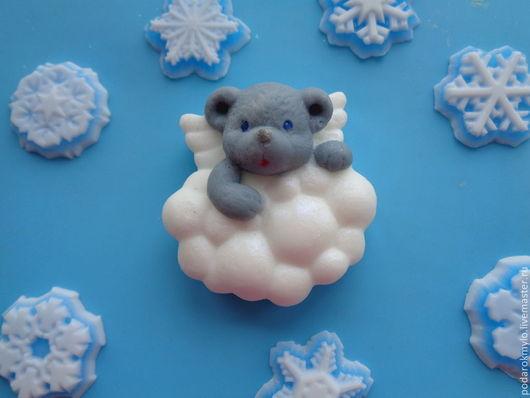 Мыло ручной работы. Ярмарка Мастеров - ручная работа. Купить Мишка в облаках. Handmade. Мишка, облака, мыльный подарок