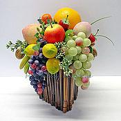 Цветы и флористика ручной работы. Ярмарка Мастеров - ручная работа Короб с фруктами. Handmade.