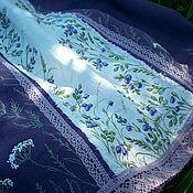 Одежда handmade. Livemaster - original item Set of Skirt Collar Brooch Forest Fairy.Flax.Painting .Embroidery. Handmade.