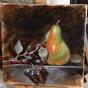 Картины и панно ручной работы. Ярмарка Мастеров - ручная работа Натюрморт с грушей. Handmade.