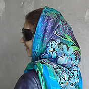 Аксессуары ручной работы. Ярмарка Мастеров - ручная работа Батик платок шелковый. Handmade.