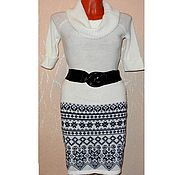 Одежда handmade. Livemaster - original item Skirt Norwegian knitted jacquard black and white. Handmade.