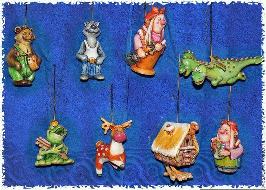 Новый год 2017 ручной работы. Ярмарка Мастеров - ручная работа. Купить елочная игрушка из папье-маше. Handmade. Праздник