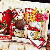 """Для дома и интерьера ручной работы. Ярмарка Мастеров - ручная работа Короб """"Яблоко&Калина 3. Handmade."""