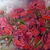 Картины и панно handmade. Livemaster - original item Passionate peonies. Oil painting on canvas.. Handmade.