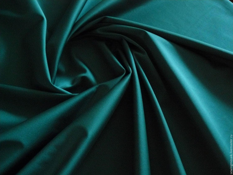 Color Feng Shui Italian Satin Fabric Stretch Cotton Emerald Green Shop
