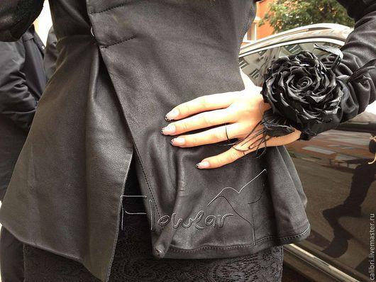 Цветы ручной работы. Ярмарка Мастеров - ручная работа. Купить Черная шелковая роза для Миланы на ажурном манжете. Handmade.