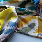 Аксессуары handmade. Livemaster - original item Ikat silk scarf. Boho tippet. Handmade.