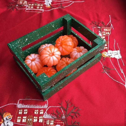 Подарочные наборы ручной работы. Ярмарка Мастеров - ручная работа. Купить Ящик с мандаринами. Handmade. Мыло ручной работы