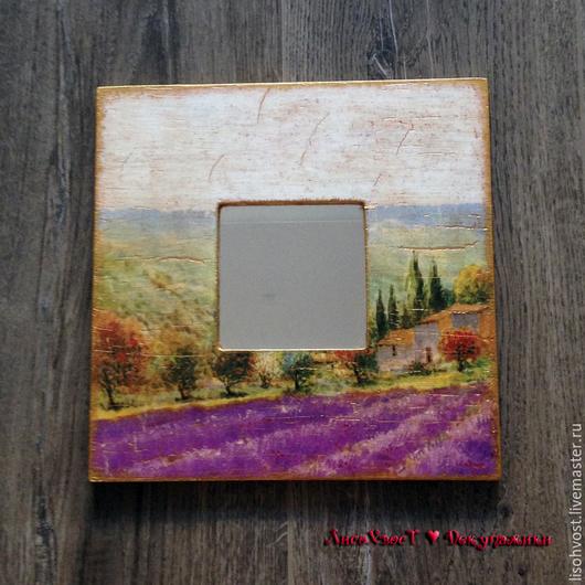 """Зеркала ручной работы. Ярмарка Мастеров - ручная работа. Купить Зеркало """"Прованс"""". Handmade. Разноцветный, Зеркало в подарок"""
