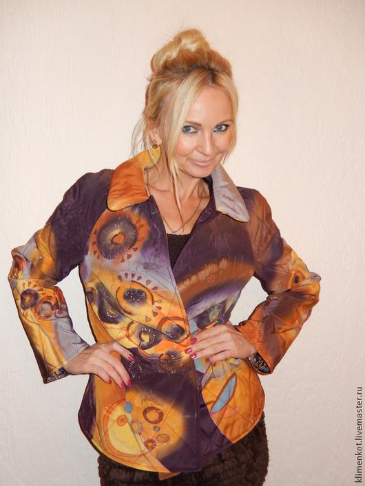 Верхняя одежда ручной работы. Ярмарка Мастеров - ручная работа. Купить куртка-жакет- Фантазия. Handmade. Абстрактный, жакет, рыжий