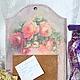"""Кухня ручной работы. Доска для записок """"Букет роз"""". Алла Капустина Tigrenok. Интернет-магазин Ярмарка Мастеров. Доска для записей"""