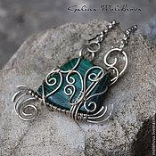Украшения handmade. Livemaster - original item Pendant of Nickel silver and malachite. Handmade.