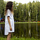 Платья ручной работы. платье-рубашка. Адель Керузер (adelkeruser). Интернет-магазин Ярмарка Мастеров. Платье-рубашка, хлопковое платье