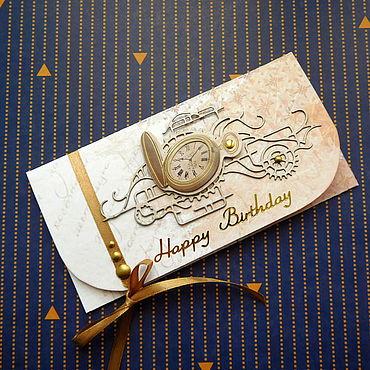 Сувениры и подарки ручной работы. Ярмарка Мастеров - ручная работа Конверт для денег мужской С днем рождения. Handmade.
