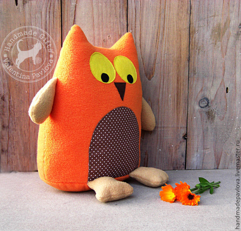 Выкройки игрушек сова подушка