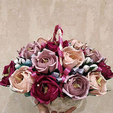 Цветы и флористика ручной работы. Ярмарка Мастеров - ручная работа Букет конфет. Handmade.