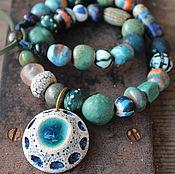 """Украшения ручной работы. Ярмарка Мастеров - ручная работа """" Симург"""" керамическое ожерелье. Handmade."""