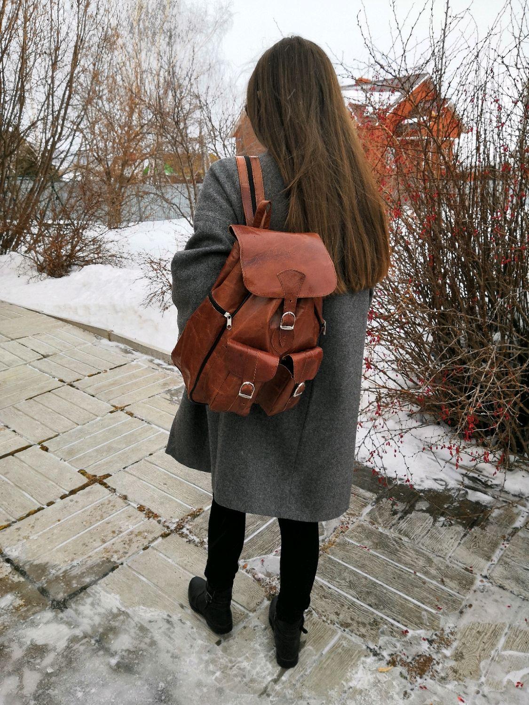 Дорожный рюкзак из натуральной кожи верблюда, Рюкзаки, Уфа,  Фото №1