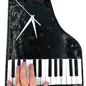 Для дома и интерьера handmade. Livemaster - original item Watch The Piano. Gift music lover. Glass, Fusing. Handmade.