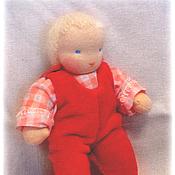 Куклы и игрушки ручной работы. Ярмарка Мастеров - ручная работа кукла-младенец  (на пуговичках)13-15см. Handmade.