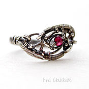 Украшения handmade. Livemaster - original item Sterling Silver Ring with Garnet. Handmade.