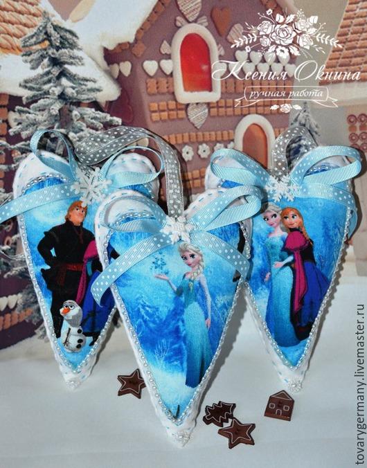 Новый год 2017 ручной работы. Ярмарка Мастеров - ручная работа. Купить Холодное сердце Сердце тильда из фетра Frozen. Handmade.