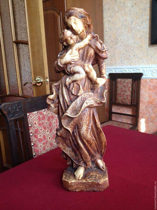 """Статуэтки ручной работы. Ярмарка Мастеров - ручная работа. Купить Скульптура """"Мадонна с младенцем"""". Handmade. Коричневый, Композит"""