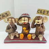 """Куклы и игрушки ручной работы. Ярмарка Мастеров - ручная работа Обезьянки """"Напоминалки"""". Handmade."""