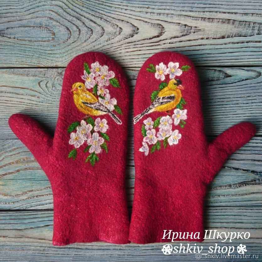 Felted mittens ' Chizhi', Mittens, Solnechnogorsk,  Фото №1
