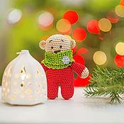 Куклы и игрушки ручной работы. Ярмарка Мастеров - ручная работа Новогодний мишутка. Handmade.