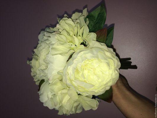 Свадебные цветы ручной работы. Ярмарка Мастеров - ручная работа. Купить Свадебный букет-дублер. Handmade. Комбинированный, пион