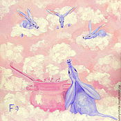 Pictures handmade. Livemaster - original item Oil painting on canvas. Sleep. Navari us, mother, clouds. Handmade.
