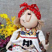 Куклы и игрушки ручной работы. Ярмарка Мастеров - ручная работа Бабка Ёжка и Ёжкин кот. Handmade.