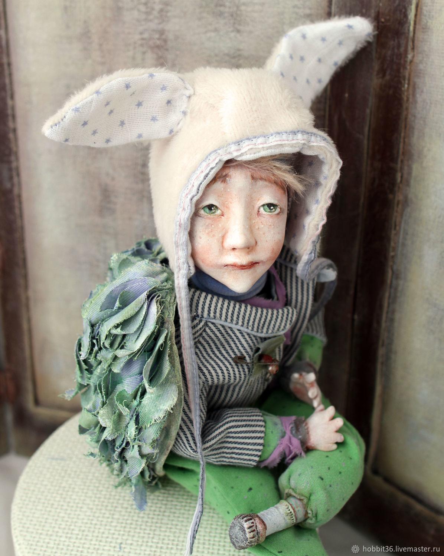 Ангелоподобный мальчик почти купидон, Портретная кукла, Москва,  Фото №1