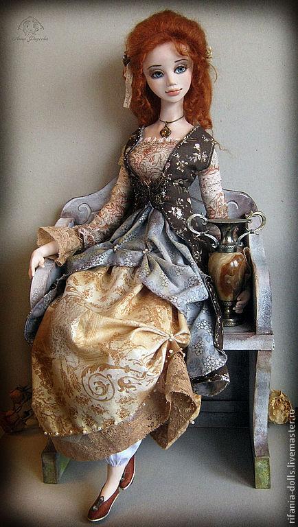 Коллекционные куклы ручной работы. Ярмарка Мастеров - ручная работа. Купить Камилла. Handmade. Рыжий, ЛивингДолл, шёлковые ленты